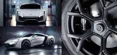 W Motors Lykan Hypercar, the first 'One Thousand and One Nights' style Arab supercar: gold plated finishing, encrusted precious stones and a Brembo braking system.