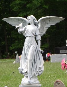 Lovely cemetery angel