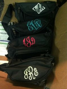 Monogrammed fanny packs. Oh, life would be so much easier if these were cool.