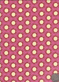 "Circle Flower Pink/Yellow  ""Flower Child"" designed by Rosalie Dekker. (Quinlan)"