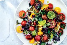 Find the recipe for Tomato, Onion, and Roasted Lemon Salad and other leafy green recipes at Epicurious.com