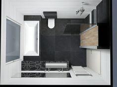 Badkamer idee voor kleine badkamer blad wastafel loopt door bij bad