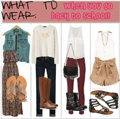 """WHAT TO WEAR: when you go back to school! (:"" by sarah4ever ❤ liked on Polyvore"