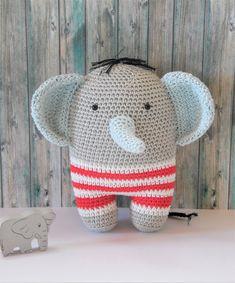 coton et gourmandises: Tuto Ernest l'éléphant au crochet