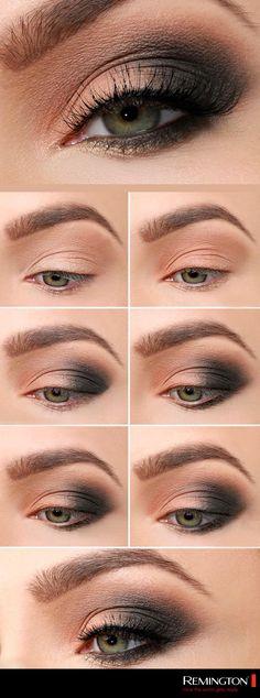 Los ojos son el punto de atención en tu rostro, aplica este smokey eye para darle fuerza a tu mirada. #makeup #eyes #fashion #trendy #style
