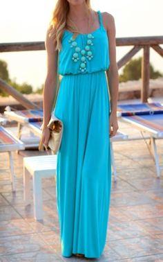 Bright maxi dresses.