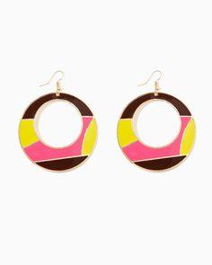 soooooo 60's! charming charlie | Ally Circle Earrings | UPC: 400000031828 #charmingcharlie