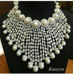 diamond,south sea pearl-necklace