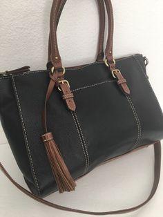 Tignanello Leather Bag Designer Fashion Shoulder Black Brown Chic Female  #Tignanello #ShoulderBag