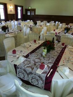 Chair Covers Wedding Yorkshire Macys Recliner Chairs 37 Best Simply Bows Tees Valley Images Village Hall In Butter Linen And Deep Red Lesley Nockels