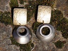 Marjorie Baer Mixed Metals Celtic Earrings by StarShineVintage on Etsy