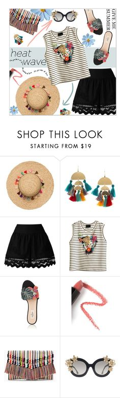 """Heat Wave"" by dani-elan ❤ liked on Polyvore featuring Armitage Avenue, Alberta Ferretti, Cynthia Rowley, Valentino, Lapcos, Stella & Dot and Alice + Olivia"