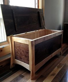 Beautiful Walnut and Maple Hope Chest- ON SALE!! on Etsy, $1,300.00