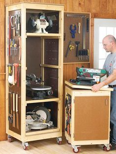 Mobile Workbenches With Storage   Google Search