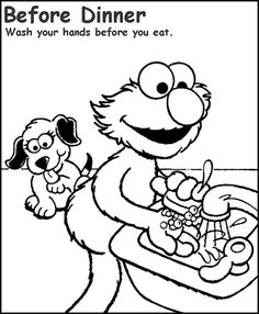 best hand washing coloring pages for small children | the Importance ...