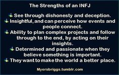 INFJ: Making the world a better place, sometimes in pyjamas .