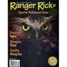 Ranger Rick Magazine 2012 Special Halloween Issue Focus On Eyes Spooky Party Fun Halloween Night, Spirit Halloween, Halloween Masks, Halloween Themes, Ranger Rick Magazine, Pumpkin Eyes, Nature Story, October Country, All About Animals