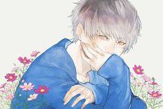 「少年と秋桜」/「世衣」[pixiv]