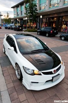 Acura CSX-S (think Honda Civic Si) with an FD2R Civic Type-R conversion via StanceNation.com