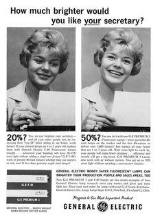 1967 GE ad that suggests secretaries aren\'t too bright