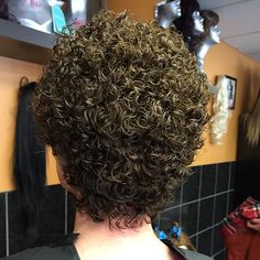 Perm tight hair curl long