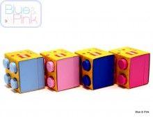 Klein lego doopsuiker doosje, voor +/- 8 suikerbonen.