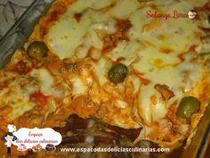 Lasanha de strogonoff de carne, com queijo - Espaço das delícias culinárias