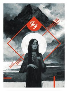 'Foo Fighters at Wrigley Field, Chicago' by Karl Fitzgerald, a new print release from Bottleneck Gallery. Foo Fighters Poster, Tour Posters, Band Posters, Music Posters, Screen Print Poster, Poster Prints, Wrigley Field Chicago, Concert Festival, Concert Posters