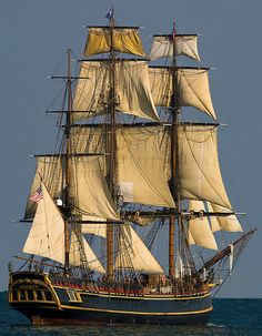 Toured this ship when it was in port in Erie, PA.  Sad it is now resting at the bottom of the Atlantic....HMS Bounty.
