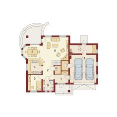DOM.PL™ - Projekt domu DA Dandys 1 G2 CE - DOM DS2-30 - gotowy koszt budowy Good House, House Plans, Floor Plans, 1, How To Plan, Holiday Decor, Attic, Home Decor, Houses