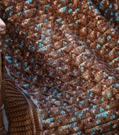 Diamond Lattice Crochet Afghan