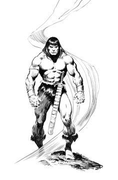 El imponente Conan de John Buscema. Tenéis una reseña de su trabajo en Conan: El Pícaro con Roy Thomas aquí mismo