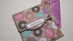 Birthday Gift Card Holder With Envelope Donut Gift by thingsbyjuju