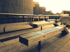 benches Highline Park, Outdoor Furniture, Outdoor Decor, Benches, Home Decor, Urban Furniture, Decoration Home, Room Decor, Interior Design