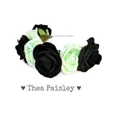 Pastel Goth Rose Flower crown: Classic Mint Pastel Flower Halo, pastel... (76 BRL) ❤ liked on Polyvore featuring accessories, hair accessories, hats, headbands, hair, flowers, gothic hair accessories, rose garland, floral crown headbands and floral crown