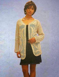 Patrón #207: Chaqueta con campanillas a Crochet #crochet http://blgs.co/iMZw5d