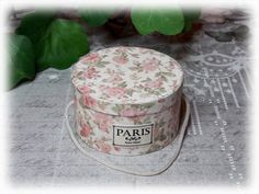 tutorial: miniature shabby chic hat box (with printables)