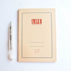 L!FE B6 Vermillion Notebook by Izola