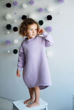 Dress for girl   Купить Толстовка для девочки - сиреневый, однотонный, футер, футер с начесом, толстовка с рисунком, толстовка для девочки