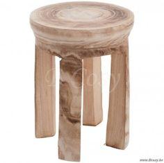 J-Line Kruk hout naturel 42 . Prijs per stuk