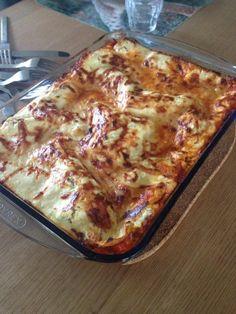 De snelle lasagne van Gera.