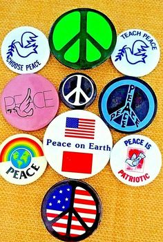 World Peace Badge Anti War Disarm Love Our Planet Earth 25mm Button Pin Badge