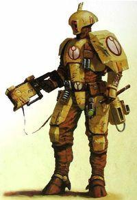 Tau fire warrior, from Warhammer Warhammer 40k Art, Warhammer Fantasy, Fire Warrior, Tau Empire, Combat Armor, Future Soldier, Arte Cyberpunk, Sci Fi Characters, Science Fiction Art