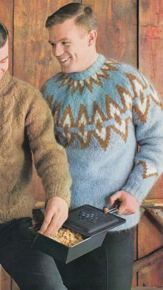 Knit this one for Him, in Mohair in favorite colors.
