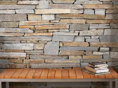 Close up of Eco Outdoor Baw Baw drystone walling. Pinned to Garden Design - Walls, Fences & Screens by BASK Landscape Design.