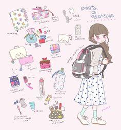 kawaii, bag, and drawing image