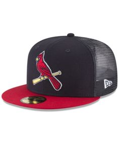 100% authentic 4efb4 41d8a New Era St. Louis Cardinals On-Field Mesh Back 59FIFTY Fitted Cap - Navy Red  7 1 2