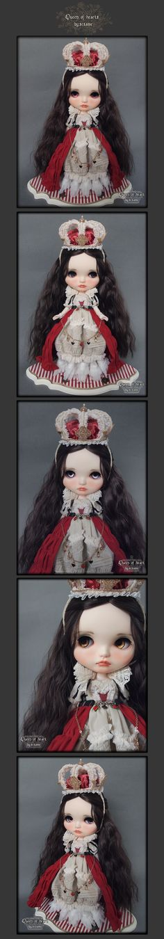 "☆ custom Blythe 'Queen of Hearts' ☆ ""By.Sesame"" Admin - Auction -! Rinkya Japan Auction & Shopping"