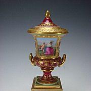Antique Royal Vienna Hand Painted Porcelain Vase Urn