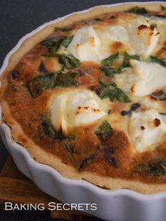 Tarta su grybais, špinatais ir rikota / Mushroom, Spinach & Ricotta Tart
